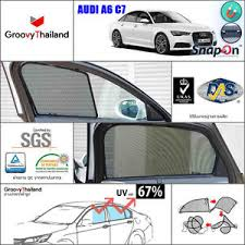 Magnetic Curtains For Car 4 Pcs Audi A6 C7 Fit Shape Foldable Mesh Curtain Sun Shade