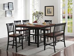 Nyla CounterHeight Dining Table  Black And Cherry The Brick - Counter height dining table in black