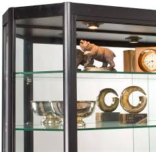 amazon com glass display cabinet illuminated angled front