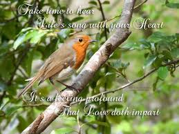 take to hear the birds sing free poetry ecards greeting