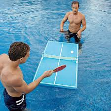 floating table for pool floating ping pong tables at brookstone buy now