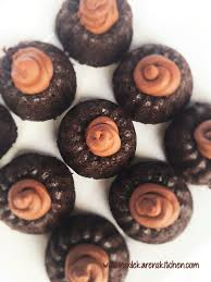 double chocolate mini bundt cakes with chocolate butter cream