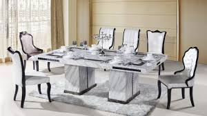 Marble Top Dining Room Table Sets Dining Table With Emperador Marble Top And Walnut Base Tables