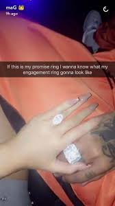 promise rings finger images So the big rock on kylie jenner 39 s ring finger is actually a jpg