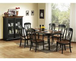 country style dining room with 7 pieces expendable leaf kitchen