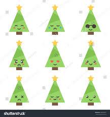 flat design cartoon cute christmas tree stock vector 509942590