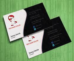 Business Card Design Template Free Hair Salon Business Card Free Psd Business Card Templates
