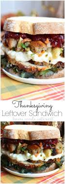 thanksgiving leftovers sandwich home made interest