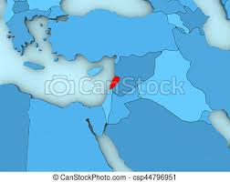 lebanon on the map lebanon on 3d map country of lebanon highlighted in on