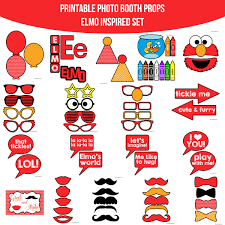 printable girly photo booth props instant download elmo inspired printable photo booth prop set diy
