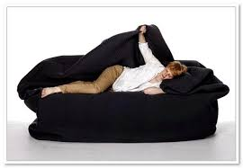 bean bag bed with built in pillow and blanket znc designs