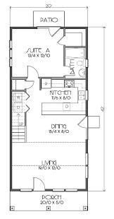 Floor Plans For Bungalows 26 X 40 Cape House Plans Second Units Rental Guest House