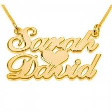 name gold necklace gold plated name necklaces