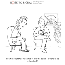 noise to signal cartoons about social media business and digital