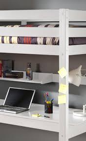 Platzsparender Schreibtisch Hochbett Pino Mit Schreibtisch Liegefläche 90 X 200 Cm Kiefer