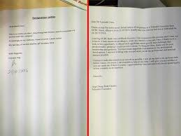 boss rewrites staff resignation letter to make himself look good