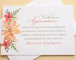 thank you for sympathy card sympathy thank you cards more custom by zdesigns0107 on etsy