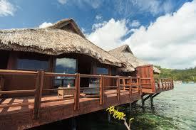 airbnb lagoon view bungalow in bora bora airbnb pinterest