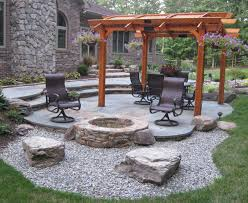 Patio And Firepit Patio Designs With Pit Sbl Home