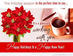 business card happy winter holidays happy new year 2016