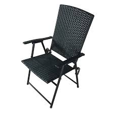 shop garden treasures brown steel folding patio conversation chair