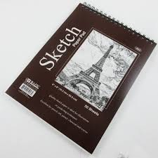 5 pc 50 sheets 6x8 top bound spiral premium quality sketch book