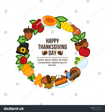 frame abstract thanksgiving day icon stock vector 725448655