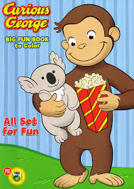 amazon com curious george coloring and activity book set 2
