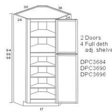 Dimensions Of Kitchen Cabinets by Best 20 Corner Pantry Cabinet Ideas On Pinterest Corner Pantry