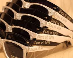 sunglasses wedding favors set of wedding favor personalized black white combo sunglasses