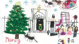 children u0027s drawings picked for theresa may u0027s christmas cards