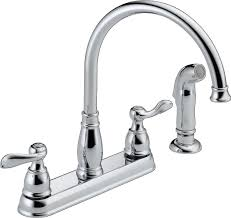 leaking delta kitchen faucet delta windemere 21996lf two handle kitchen faucet chrome