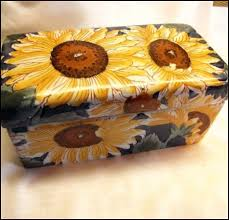 Sunflower Home Decor by Sunflower Box Xlg Painted Ceramic Home Decor