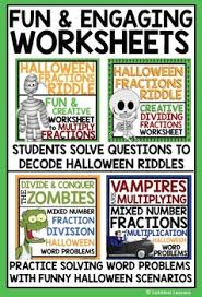 halloween multiply and divide fractions bundle by limitless lessons
