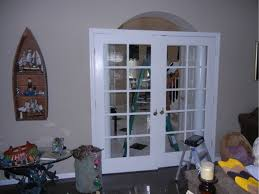 interior french glass doors a stained glass transom over the interior french doors the glass