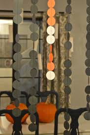 halloween decor paper garland curtain revamperate