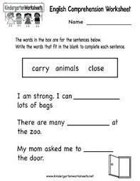 this is a reading comprehension worksheet intended to help readers