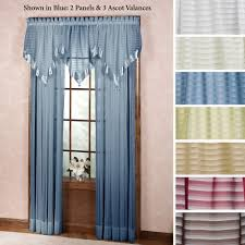 sheer curtains window treatments touch of class nimbus stripe ascot valances and window treatments
