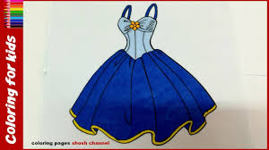 dress coloring pages for girls art colours for kids with colored