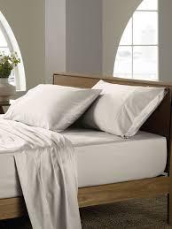 sheridan soft sateen peat king flat sheet super soft sate house