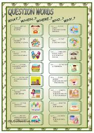 16 best question words gor images on pinterest teaching english
