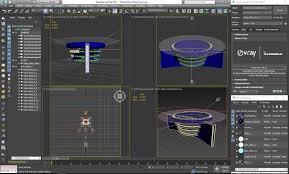 News Studio Desk by Virtual Tv Studio News Desk 3d Fox Cgtrader