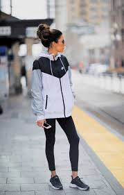 how to look stylish at the gym yellow sweater nike fitness and