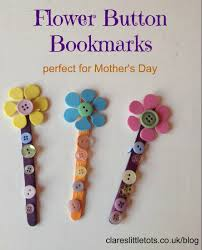 button bookmarks bookmarks gift and crafts
