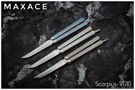 Kitchen Knives Online New Maxace Scorpuis Balisong Convenant Lite Version Butterfly