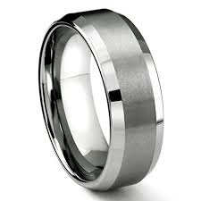 wedding bands brands 8mm tungsten metal men s wedding band ring in comfort fit and