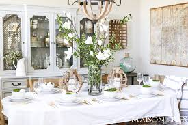 Easter Decorations For Restaurant by Green And White Easter Tablescape Maison De Pax