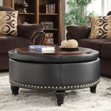 Leather Storage Ottoman Darby Home Ellen Eco Leather Storage Ottoman Also Functions As A