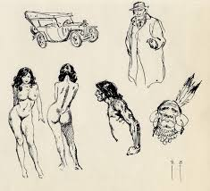 sketch by frank frazetta the masters u0027 sketches pinterest