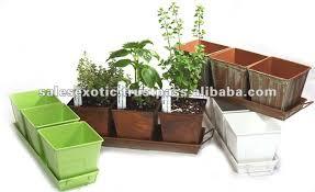 kitchen herb planter kit herb growing kit container garden kit